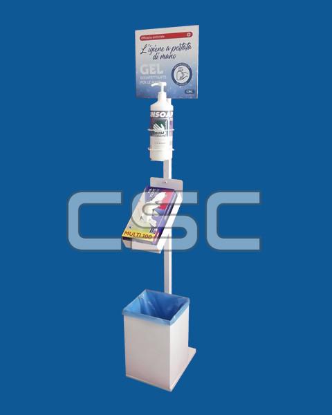 Totem dispenser gel igienizzante
